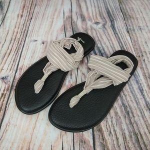 Sanuk Sling Yoga Mat Sandals Size 8